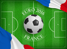 Euro 2016 concept. In realistic style for any design Royalty Free Stock Photos