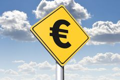 EURO - conceptual roadsign... Royalty Free Stock Photos