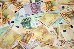 Euro contant geld Royalty-vrije Stock Fotografie
