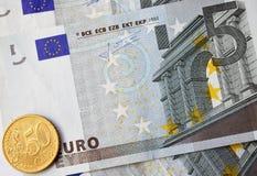 Euro contanti Immagini Stock