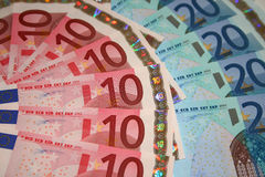 Euro- contas fotografia de stock royalty free