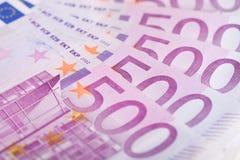 500 euro- contas Imagens de Stock