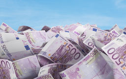 500 euro- contas Imagens de Stock Royalty Free