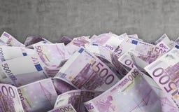 500 euro- contas Foto de Stock Royalty Free