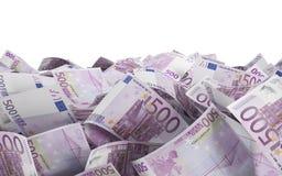 500 euro- contas Fotos de Stock Royalty Free
