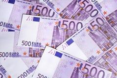 500 euro- contas Fotografia de Stock Royalty Free