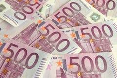 500 euro- contas Imagem de Stock Royalty Free