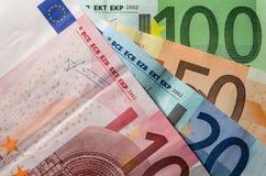 Euro- contas de dinheiro imagem de stock royalty free