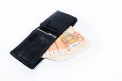 50 euro- contas em uma pasta Foto de Stock Royalty Free