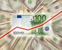 Euro contra o dólar Imagens de Stock Royalty Free