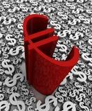 Euro contro il dollaro Immagine Stock