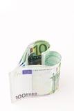 Euro- coração do dinheiro Foto de Stock