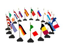 Euro country flags Royalty Free Stock Photo