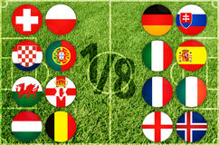 Euro country flags Royalty Free Stock Images