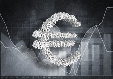 Euro cours des devises, rendu 3D Images stock