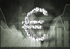 Euro cours des devises, rendu 3D Photographie stock