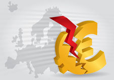 Euro crash? Royalty Free Stock Photos