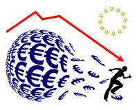 Euro Crash Royalty Free Stock Photo