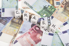 Euro crash Stock Photo