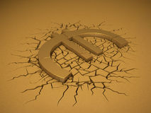 Euro Crash Royalty Free Stock Photography
