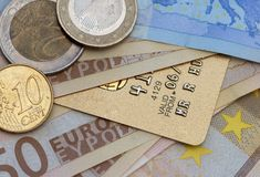 Euro credit Stock Photography