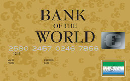 Euro credit card Royalty Free Stock Images