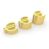Euro crescita di valuta Fotografia Stock Libera da Diritti