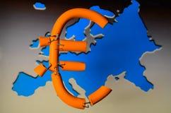 Euro- crise Imagens de Stock Royalty Free