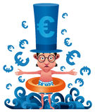 Euro crise illustration stock