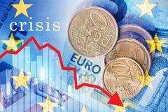 Euro crise image libre de droits