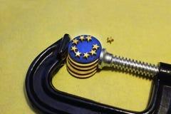 Euro crise de pression de l'Union européenne Image stock