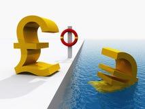Euro crise monétaire Photo stock