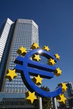 Euro crises Image libre de droits
