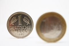 Euro crises and deutsche mark Royalty Free Stock Photo