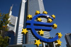 Euro crises Royalty Free Stock Photography