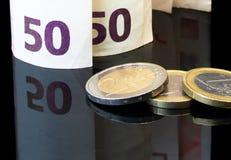 Euro crisi Fotografie Stock Libere da Diritti