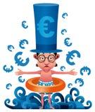 Euro crisi Fotografie Stock
