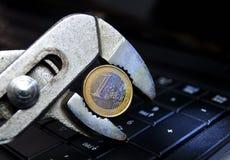 Euro crisi di reparto Fotografie Stock Libere da Diritti