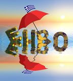 Euro crisis. Symbol for the current euro crisis which affects the European Union and the financial markets worldwide Stock Photo