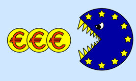Euro crisis Royalty Free Stock Photos