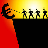 Euro crisis. Trying to save the euro, and to a larger extent the European Union, in times of financial turmoil Stock Photo
