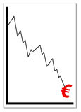 Euro crisis. Crisis of the euro currency and the european union Stock Images