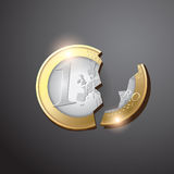 Euro crisis. Euro financial crisis concept vector Stock Images