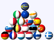 Euro Crisis. Abstract concept of representing the European currency, debt, and banking crisis Royalty Free Stock Photo