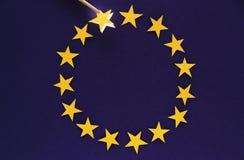 EURO Crisis. EU Membership Losing falling star represents country i.e. Greece Royalty Free Stock Photo