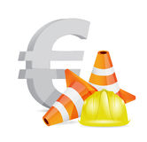 Euro crisis concept illustration design Stock Photography