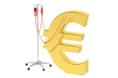 Euro crisis concept. Isolated on white background Royalty Free Stock Image