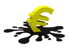 The euro crisis Stock Photos