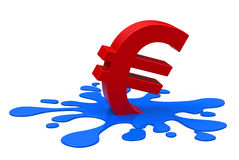 The euro crisis Royalty Free Stock Images