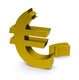 The euro crisis Royalty Free Stock Photos